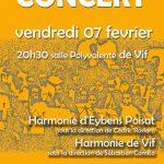 Concert des harmonies de Vif et d'Eybens Poisat