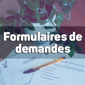 Formulaire de demandes