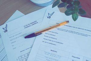 Demande de formulaires