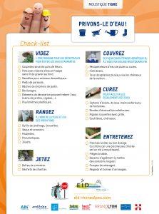 Checklist moustique tigre
