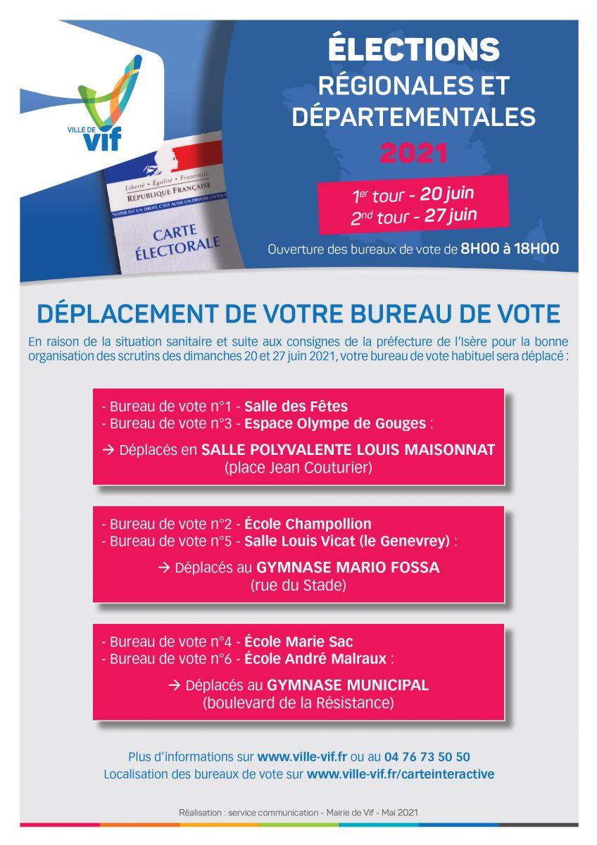 Déplacement des bureaux de vote