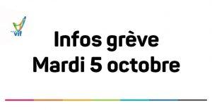 Grève - mardi 5 octobre