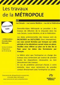 Tract Métro - travaux centre bourg - octobre 2021