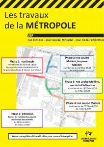 Tract Métro - Plan - travaux centre bourg - octobre 2021